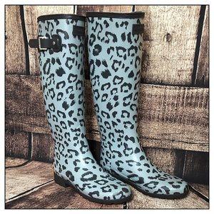 Hunter Original Tall Leopard Print Rainboots